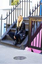 Topshop boots - Zara jacket - Topshop bag