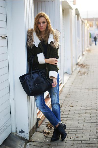 Zara boots - Zara jeans - Sheinsidecom jacket