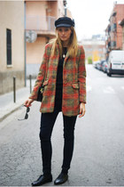 Romwecom coat - Zara jeans - Topshop flats