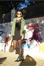 Oysho jacket - H&M boots - AXPAris dress - Mango bag