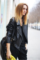 Romwecom jacket - H&M hat - Romwecom bag - Topshop pants - Zara flats