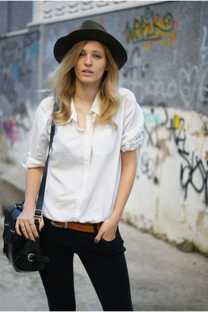 Zara hat - Topshop jeans - H&amp;M Trend blouse