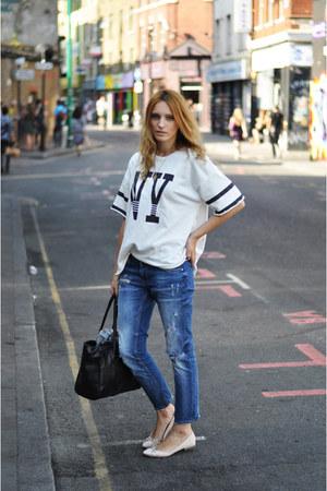 choiescom shirt - Zara jeans - Zara flats