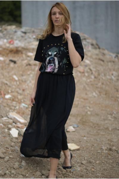 Choies shirt - Sheinside skirt - Topshop flats