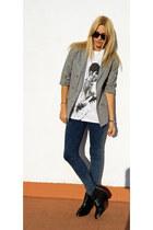 Topshop jeans - Topshop blazer - Topshop shirt