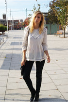 Topshop blouse - Zara jeans