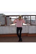 Topshop boots - Topshop pants - H&M blouse