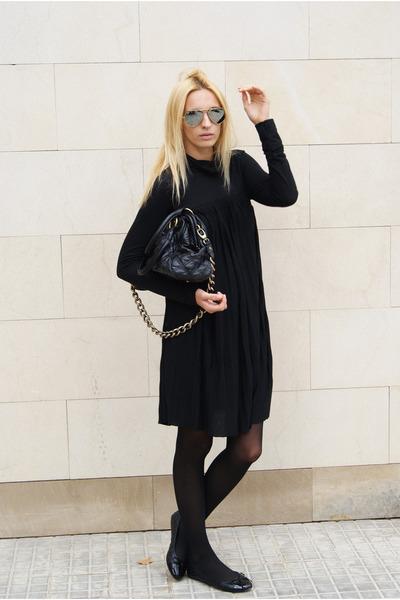 H&M dress - Marc Jacobs bag - moony mood flats