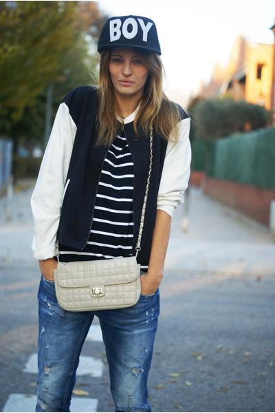 Zara jeans - Romwecom hat - suiteblanco jacket - Romwecom shirt