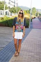 Romwecom skirt - Romwecom shirt - OASAP bag - Zara flats