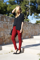 Zara jeans - Bershka blouse - Nine West heels