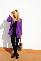 Topshop blazer - Tamaris boots - Zara shirt - Topshop pants