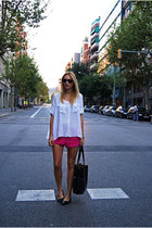 H&M shorts - OASAP bag - Sfera blouse