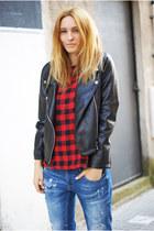 Zara jeans - Romwecom jacket - Romwecom blouse