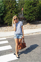 Topshop shorts - clohe bag - Topman blouse