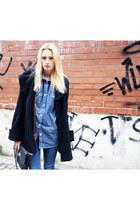 Topshop coat - Topshop jeans - Zara blouse