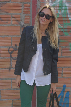 Zara jeans - Topshop jacket - Sfera blouse