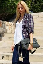 Topshop jeans - Topshop blazer - Topshop purse - Topshop blouse