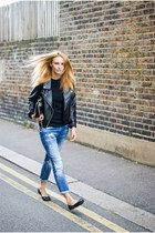 Romwecom jacket - Zara jeans - black H&M flats