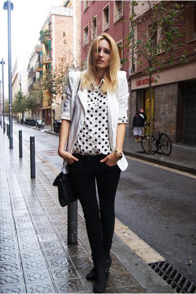 Queens Wardrobe blouse - Nelly boots - Romwecom blazer
