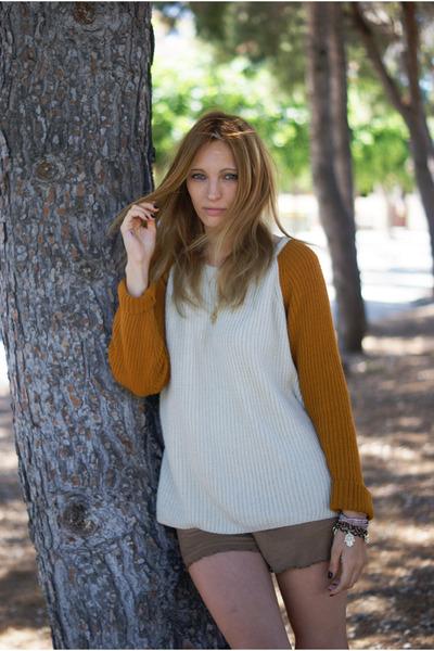 Zara jumper - Bershka shorts