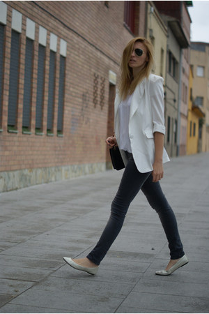 She Inside blazer - H&amp;M jeans - Topshop flats