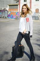 H&M Trend jacket - Topshop jeans - Zara shirt
