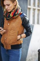 She Inside jacket - Topshop jeans - vintage scarf