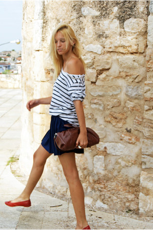 H&M skirt - Topshop bag - Zara blouse