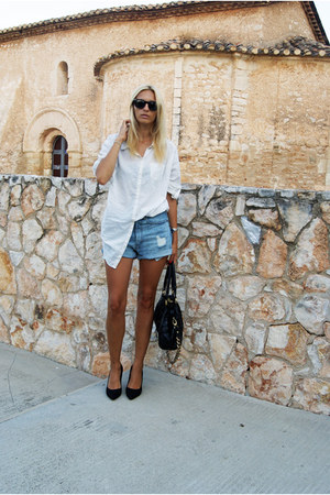 H&M shorts - H&M blouse - Nine West heels