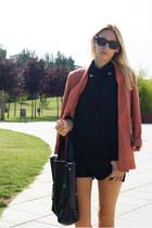 H&M blazer - OASAP bag - Sheinside blouse