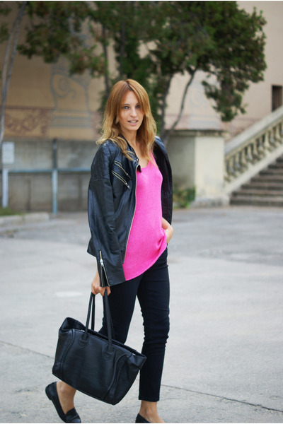 H&M Trend blouse - Topshop jeans - Zara jacket