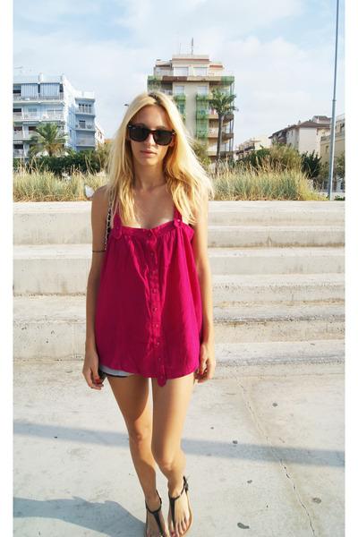Topshop blouse - Topshop sandals