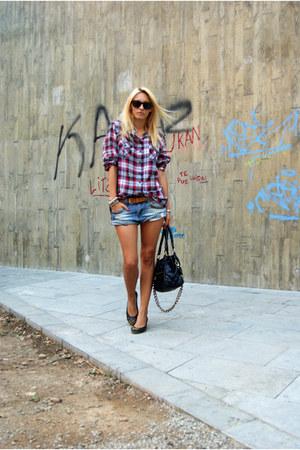 Topshop blouse - DIY shorts
