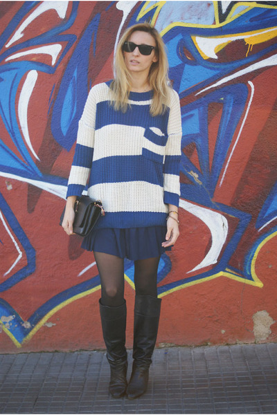 Sammy dress jumper - OASAP bag - H&M skirt