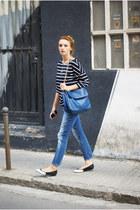 chicnova bag - Zara jeans - romwe shirt - H&M flats