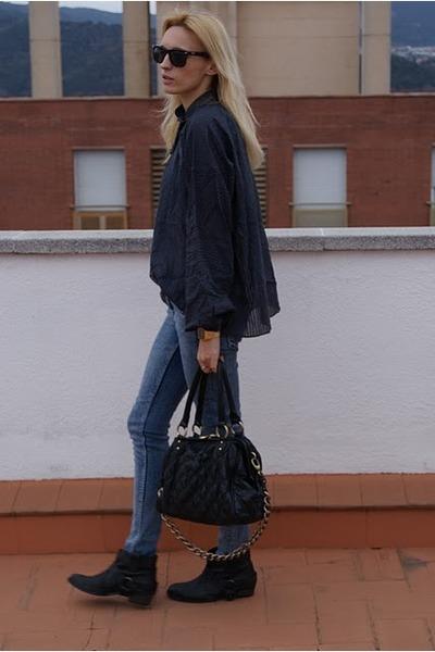 Topshop boots - Topshop pants - Topshop blouse