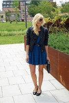 Topshop dress - Topshop jacket - moony mood flats