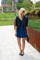 Topshop dress - Topshop jacket - moony mood flats