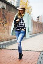 Romwecom coat - Zara boots - Zara jeans - PERSUNMALL jumper