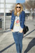Topshop jeans - H&M blazer - Topman jumper