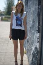 Topshop shirt - Oysho shorts