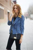 Topshop jacket - Topshop jeans - choiescom shirt - Romwecom bag