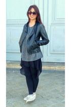 black Primark leggings - black sunnies H&M sunglasses