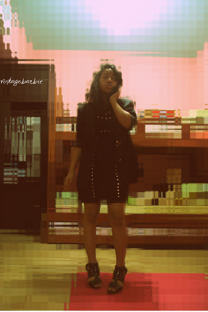 vintage blazer - shoes - studded dress