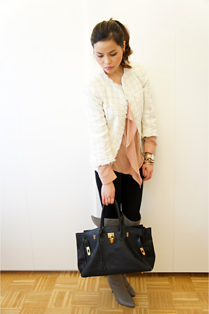 Moncler jacket - Zara blazer - Zara blouse