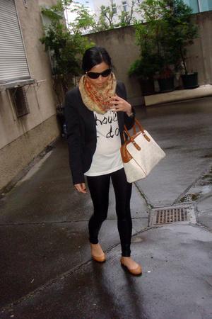 Zara blazer - Michael Kors purse - Salvatore Ferragamo sunglasses - Zara shirt