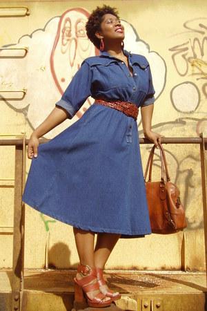 leather banana republic bag - Thrift Store dress