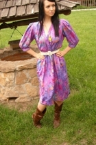 purple VintageDress dress