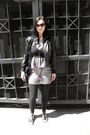 Silver-urban-outfitters-dress-black-max-azria-jacket-black-old-navy-cardigan